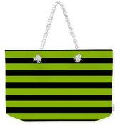 Horizontal Black Inside Stripes 09-p0169 Weekender Tote Bag