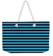 Horizontal Black Inside Stripes 18-p0169 Weekender Tote Bag