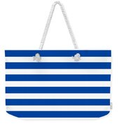 Horizontal White Inside Stripes 09-p0169 Weekender Tote Bag