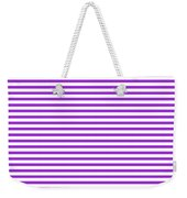 Horizontal White Outside Stripes 30-p0169 Weekender Tote Bag