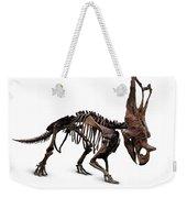 Horned Dinosaur Skeleton Weekender Tote Bag
