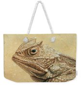 Horned Toad Weekender Tote Bag by James W Johnson