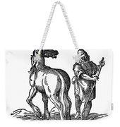 Horse & Groom Weekender Tote Bag
