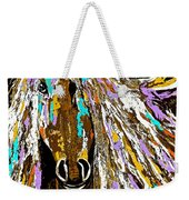 Horse Abstract Brown And Blue Weekender Tote Bag