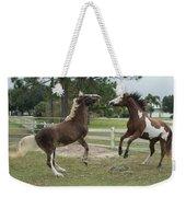 Horse Aerobics Weekender Tote Bag