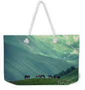 Horse Among The Mountains Of Georgia Weekender Tote Bag