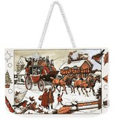Horse And Carriage In The Snow Weekender Tote Bag