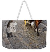 Horse And Carriage On Cobblestoned Alvarez Quintero Street In Th Weekender Tote Bag
