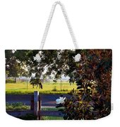 Horse And Flower Weekender Tote Bag
