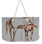 Mare And Foal Weekender Tote Bag
