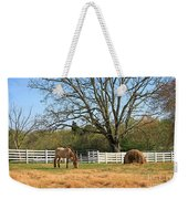 Horse And Hay Weekender Tote Bag