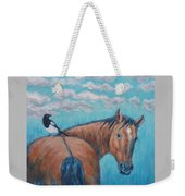 Horse And Magpie Weekender Tote Bag