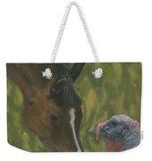 Horse And Turkey Weekender Tote Bag