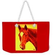 Horse Art Horse Portrait Maduro Deep Yellow And Orange Weekender Tote Bag