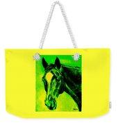 Horse Art Horse Portrait Maduro Green Black And Yellow Weekender Tote Bag