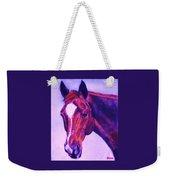 Horse Art Horse Portrait Maduro Pink And Purple Weekender Tote Bag