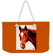 Horse Art Horse Portrait Maduro Red With Yellow Highlights Weekender Tote Bag