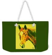 Horse Art Horse Portrait Maduro Yellow Weekender Tote Bag