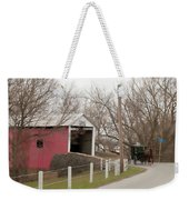 Horse Buggy And Covered Bridge Weekender Tote Bag