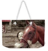 Horse Crazy Quote Weekender Tote Bag