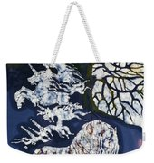 Horse Dreaming Below Trees Weekender Tote Bag by Carol  Law Conklin