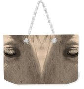 Horse Eyes Love Sepia Weekender Tote Bag