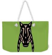 Horse Face Rick - Horse Pop Art - Greenery, Hazelnut, Island Paradise Blue Weekender Tote Bag