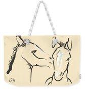 Horse-foals-together 6 Weekender Tote Bag