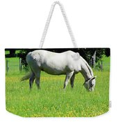 Horse In A Field Of Flowers Weekender Tote Bag