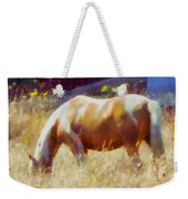 Horse In Field Weekender Tote Bag