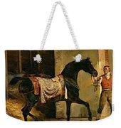 Horse Leaving A Stable Weekender Tote Bag