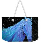 Horse-midnight Snow Weekender Tote Bag