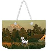 Horse Mountain And Barn Weekender Tote Bag
