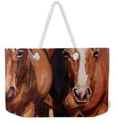 Horse Oil Painting Weekender Tote Bag