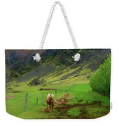 Horse On The South Iceland Coast Weekender Tote Bag