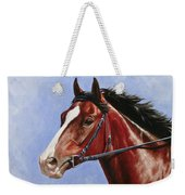 Horse Painting - Determination Weekender Tote Bag by Crista Forest