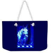Horse Painting Jumper No Faults Blue Weekender Tote Bag