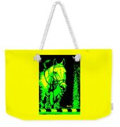 Horse Painting Jumper No Faults Green And Yellow Weekender Tote Bag