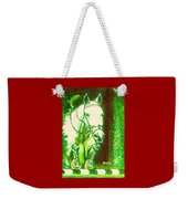Horse Painting Jumper No Faults Green With Reds Weekender Tote Bag
