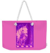 Horse Painting Jumper No Faults Hot Pink Weekender Tote Bag
