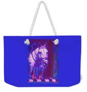 Horse Painting Jumper No Faults Purple And Blue Weekender Tote Bag