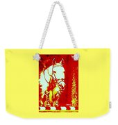 Horse Painting Jumper No Faults Red And White Weekender Tote Bag