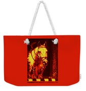 Horse Painting Jumper No Faults Reds Weekender Tote Bag