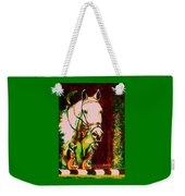 Horse Painting Jumper No Faults Reds Greens Weekender Tote Bag