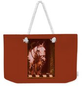 Horse Painting Jumper No Faults Soft Browns Weekender Tote Bag
