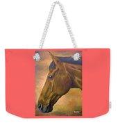 horse portraint PRINCETON pastel colors Weekender Tote Bag