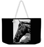horse portrait PRINCETON black and white Weekender Tote Bag