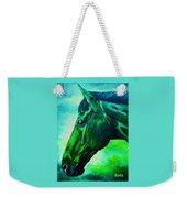 horse portrait PRINCETON blue green Weekender Tote Bag