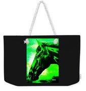 horse portrait PRINCETON green and black Weekender Tote Bag