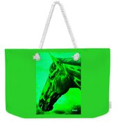 horse portrait PRINCETON green Weekender Tote Bag